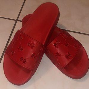 Men's rubber GG slide sandal